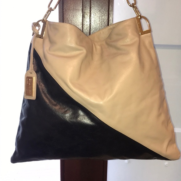 Badgley Mischka Handbags - Authentic BADGLEY MISCHKA block leather large bag 0e59d6dc43284